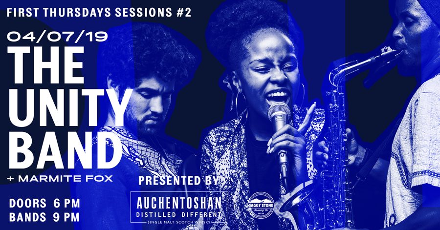 Unity Band First Thursdays Sessions Gin Bar 4 July 2019